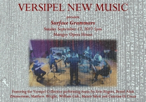 Versipel New Music presents Surface Grammars 9/17/17 @Marigny Opera House
