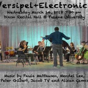 Versipel+Electronics – March 14 @ Tulane RecitalHall